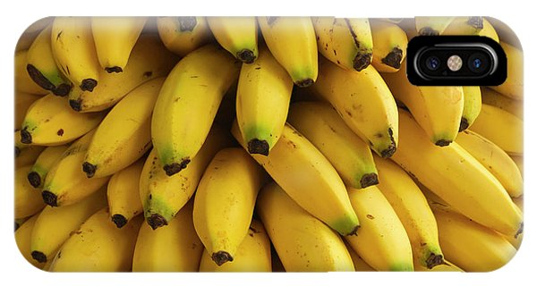 Belize iPhone Case - Bananas At The Saturday Market, San by William Sutton