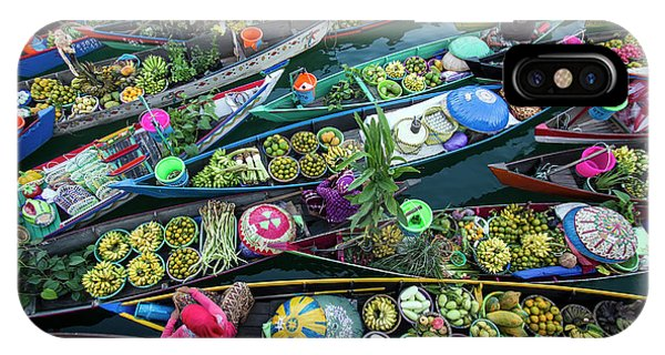 Travel iPhone Case - Banjarmasin Floating Market by Fauzan Maududdin