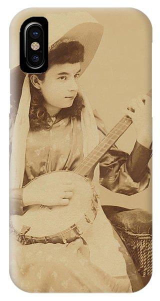 Banjo Girl 1880s IPhone Case