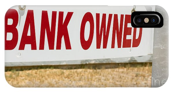 Bank Owned Real Estate Sign IPhone Case