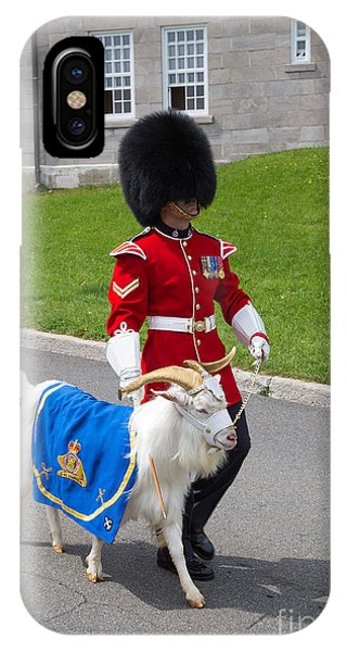 Quebec City iPhone Case - Baptiste The Goat by Edward Fielding