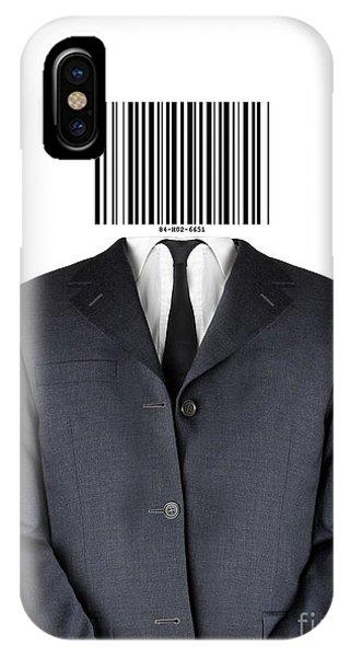 Bar Code Man Phone Case by Shawn Hempel