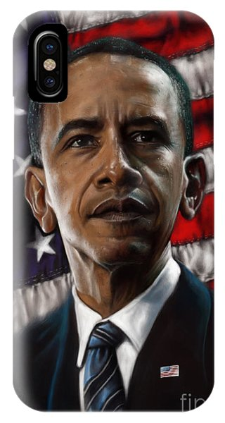 Barack Obama iPhone Case - Barack Obama by Andre Koekemoer