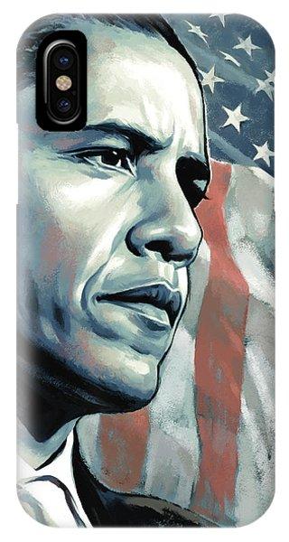 Barack Obama Artwork 2 B IPhone Case