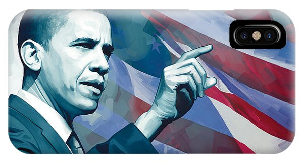 Barack Obama iPhone Case - Barack Obama Artwork 2 by Sheraz A