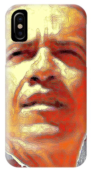 Barack Obama Portrait - American President 2008-2016 IPhone Case