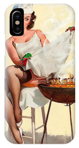 Barbecue Pin-up Girl IPhone Case