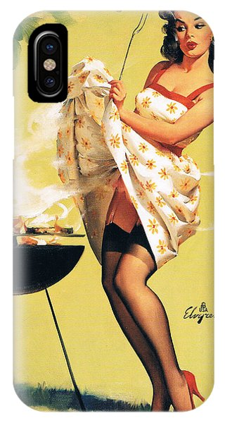 Barbecue Time - Retro Pinup Girl IPhone Case