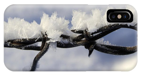 Barbed Wire Frost 2 IPhone Case