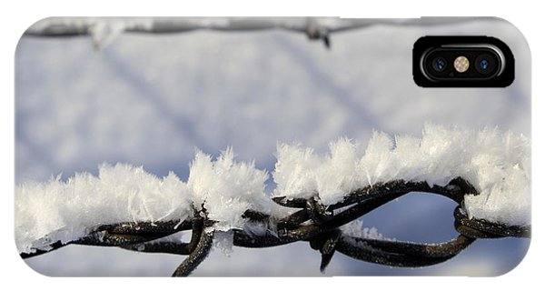 Barbed Wire Frost IPhone Case