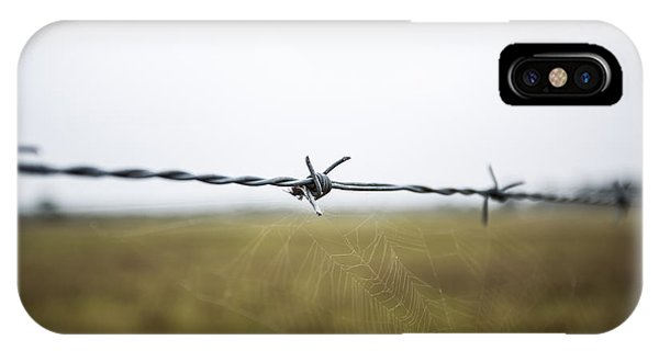 Barbed Wires Phone Case by Mina Isaac