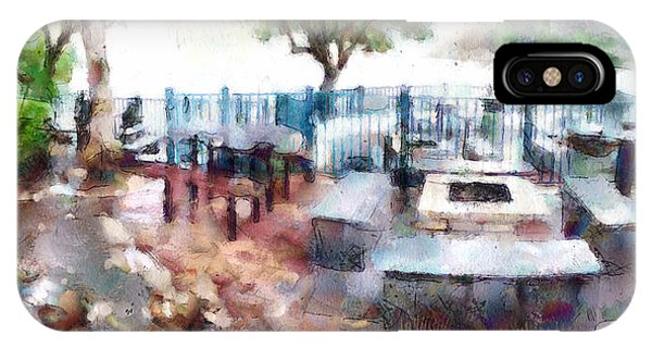 Barbeque iPhone Case - Barbeque Place At Lamma Island Beach by Yury Malkov