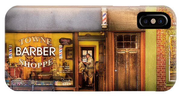 Barber - Towne Barber Shop IPhone Case