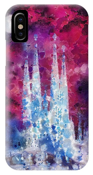 Mo iPhone Case - Barcelona Night by Mo T