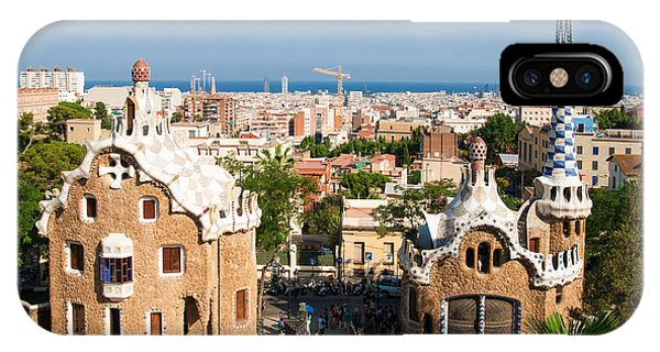 Barcelona Park Guell Antoni Gaudi Phone Case by Matthias Hauser