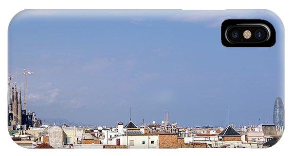 Barcelona Skyline IPhone Case