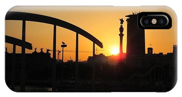 Barcelona Sunset IPhone Case