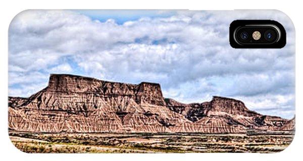 Bardenas Desert Panorama 1 IPhone Case