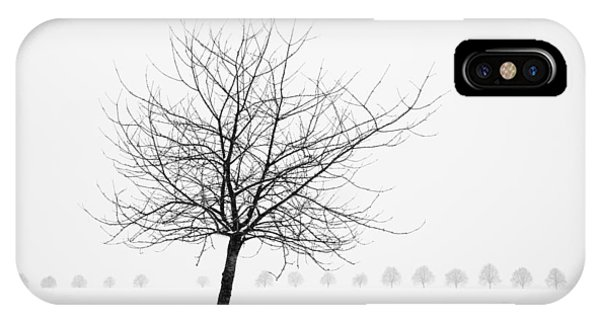 Bare Tree In Winter - Wonderful Black And White Snow Scenery IPhone Case