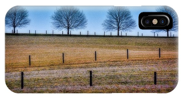 Bare Trees And Fence Posts IPhone Case