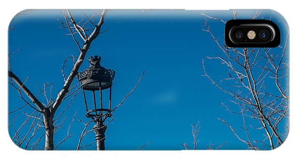 Bare Trees Blue Sky IPhone Case