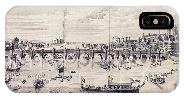 Barges At Westminster Bridge IPhone Case