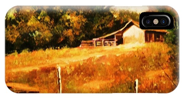 Barn Above The Creekbed IPhone Case