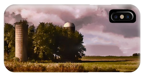 Barn And 2 Silos IPhone Case