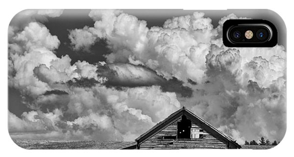 Barn And Clouds Phone Case by Latah Trail Foundation