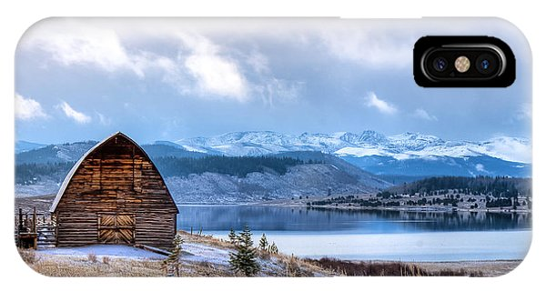 Barn At The Lake IPhone Case
