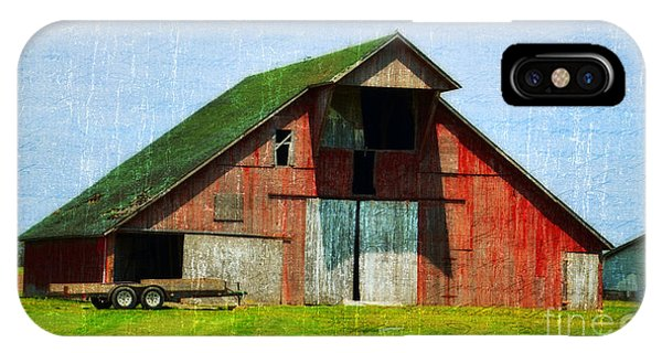 Barn - Central Illinois - Luther Fine Art IPhone Case