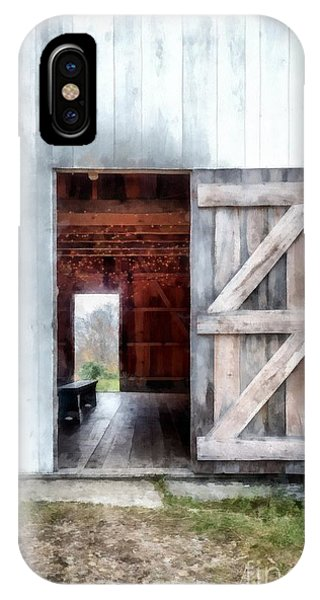 New England Barn iPhone Case - Barn Dance by Edward Fielding