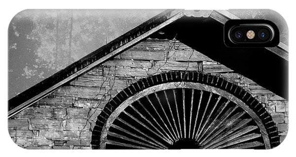 Barn Detail - Black And White IPhone Case