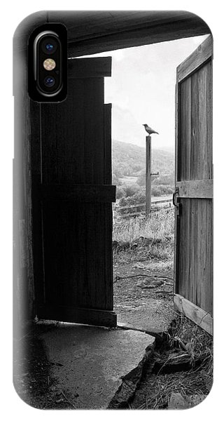 Barn Door - View From Within - Old Barn Picture IPhone Case