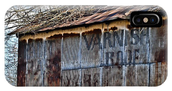 Barn Ghost Sign 1 IPhone Case