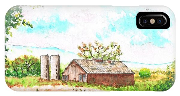 Barn In Highway 6 - Bishop - California IPhone Case
