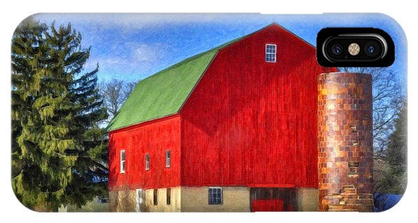 Barn In Winter IPhone Case