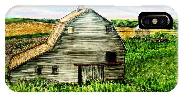 Barn Near Stanton Nebraska IPhone Case