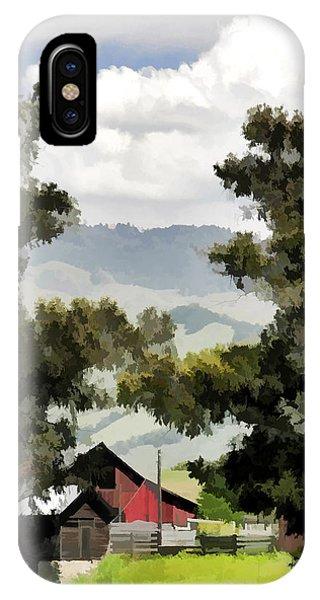 Barn On Santa Rosa Road IPhone Case