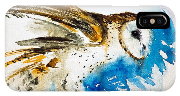 Da145 Barn Owl Ruffled Daniel Adams IPhone Case