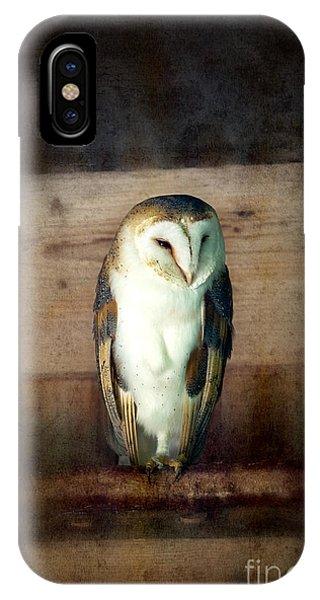 Mottled iPhone Case - Barn Owl Vintage by Jane Rix