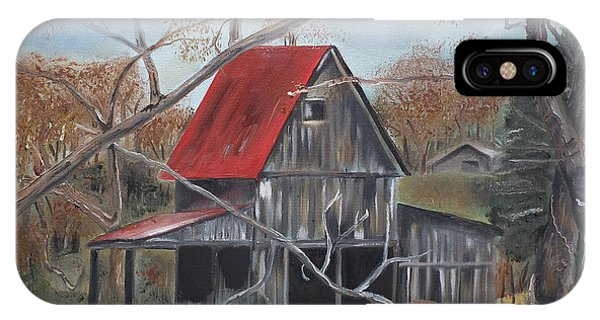 Barn - Red Roof - Autumn IPhone Case