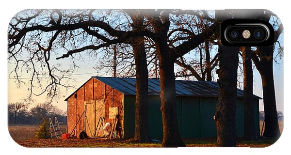 Barn Under Oak Trees IPhone Case
