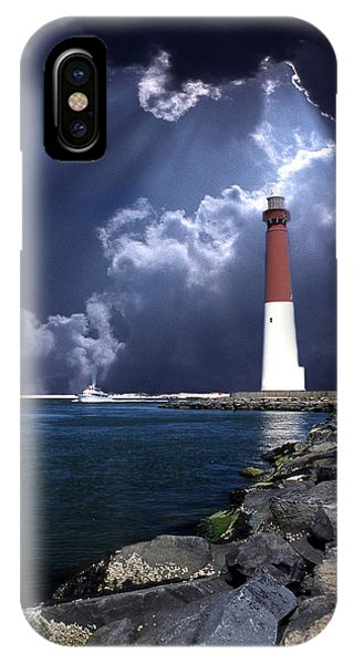 Long Beach Island iPhone Case - Barnegat Inlet Lighthouse Nj by Skip Willits