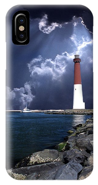 New Jersey iPhone Case - Barnegat Inlet Lighthouse Nj by Skip Willits