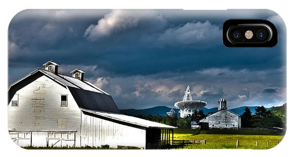 Barns And Radio Telescopes IPhone Case