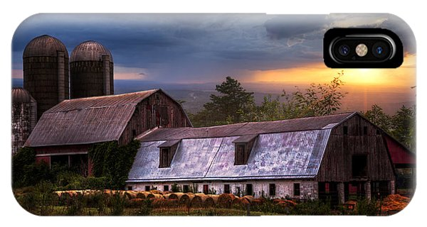 Barns At Sunset IPhone Case