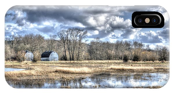 Barns On The Delta 1 IPhone Case