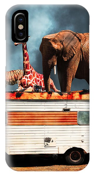 Barnum And Bailey iPhone Case - Barnum And Bailey Goes On A Road Trip 5d22705 Vertical by Wingsdomain Art and Photography