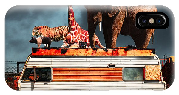 Barnum And Bailey iPhone Case - Barnum And Bailey Goes On A Road Trip 5d22705 by Wingsdomain Art and Photography